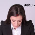 頭のツボ大辞典:「神庭(しんてい)」の位置と効能